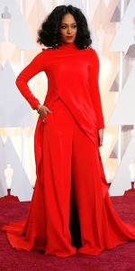 Singer Solange Knowles arrives at the 87th Academy Awards in Hollywood
