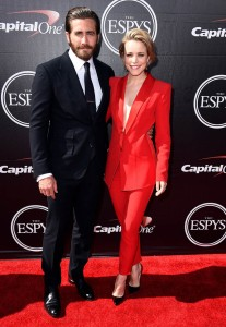 LOS ANGELES, CA - JULY 15:  Actors Jake Gyllenhaal (L) and Rachel McAdams attend The 2015 ESPYS at Microsoft Theater on July 15, 2015 in Los Angeles, California.  (Photo by Steve Granitz/WireImage)