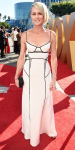 IMAGE DISTRIBUTED FOR THE TELEVISION ACADEMY - Robin Wright arrives at the 67th Primetime Emmy Awards on Sunday, Sept. 20, 2015, at the Microsoft Theater in Los Angeles. (Photo by Dan Steinberg/Invision for the Television Academy/AP Images)