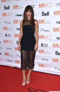 TORONTO, ON - SEPTEMBER 11: Actress Sandra Bullock arrives to the