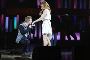 """NASHVILLE - """"The Slender Threads That Bind Us Here"""" -- Rock star Marcus Keen (Riley Smith) makes demands on Rayna as she struggles to tend to those around her. Layla and Jeff get into a lover's quarrel. Jeff arranges for a journalist to shadow Juliette on tour, but after another emotional setback, she leans on pills and alcohol to get through her days, and Zoey (Chaley Rose) returns to see Scarlett, on """"Nashville"""" WEDNESDAY, OCTOBER 14 (10:00-11:00 p.m., ET) on the ABC Television Network. (ABC/Mark Levine) RILEY SMITH, CONNIE BRITTON"""