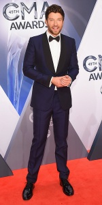 NASHVILLE, TN - NOVEMBER 04: Recording artist Brett Eldredge attends the 49th annual CMA Awards at the Bridgestone Arena on November 4, 2015 in Nashville, Tennessee. (Photo by Michael Loccisano/Getty Images)