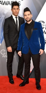 NASHVILLE, TN - NOVEMBER 04: Dan Smyers and Shay Mooney of Dan + Shay attend the 49th annual CMA Awards at the Bridgestone Arena on November 4, 2015 in Nashville, Tennessee. (Photo by John Shearer/WireImage)