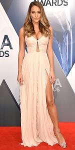 NASHVILLE, TN - NOVEMBER 04: Model Hannah Davis attends the 49th annual CMA Awards at the Bridgestone Arena on November 4, 2015 in Nashville, Tennessee. (Photo by John Shearer/WireImage)