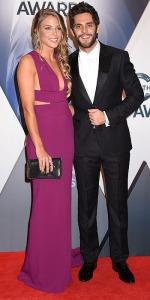 04 November 2015 - Nashville, Tennessee - Thomas Rhett, Lauren Gregory. 49th CMA Awards, Country Music's Biggest Night, held at Bridgestone Arena. Photo Credit: Laura Farr/AdMedia