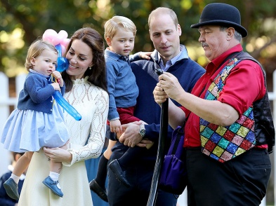VICTORIA, BC - SEPTEMBER 29: Catherine, Duchess of Cambridge holding Princess Charlotte of Cambridge and Prince George of Cambridge, being held by Prince William, Duke of Cambridge at a children's party for Military families during the Royal Tour of Canada on September 29, 2016 in Carcross, Canada. Prince William, Duke of Cambridge, Catherine, Duchess of Cambridge, Prince George and Princess Charlotte are visiting Canada as part of an eight day visit to the country taking in areas such as Bella Bella, Whitehorse and Kelowna (Photo by Chris Jackson - Pool/Getty Images)