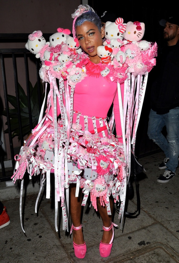 Christina Milian is decked out in Hello Kitty gear for the Galore Magazine party