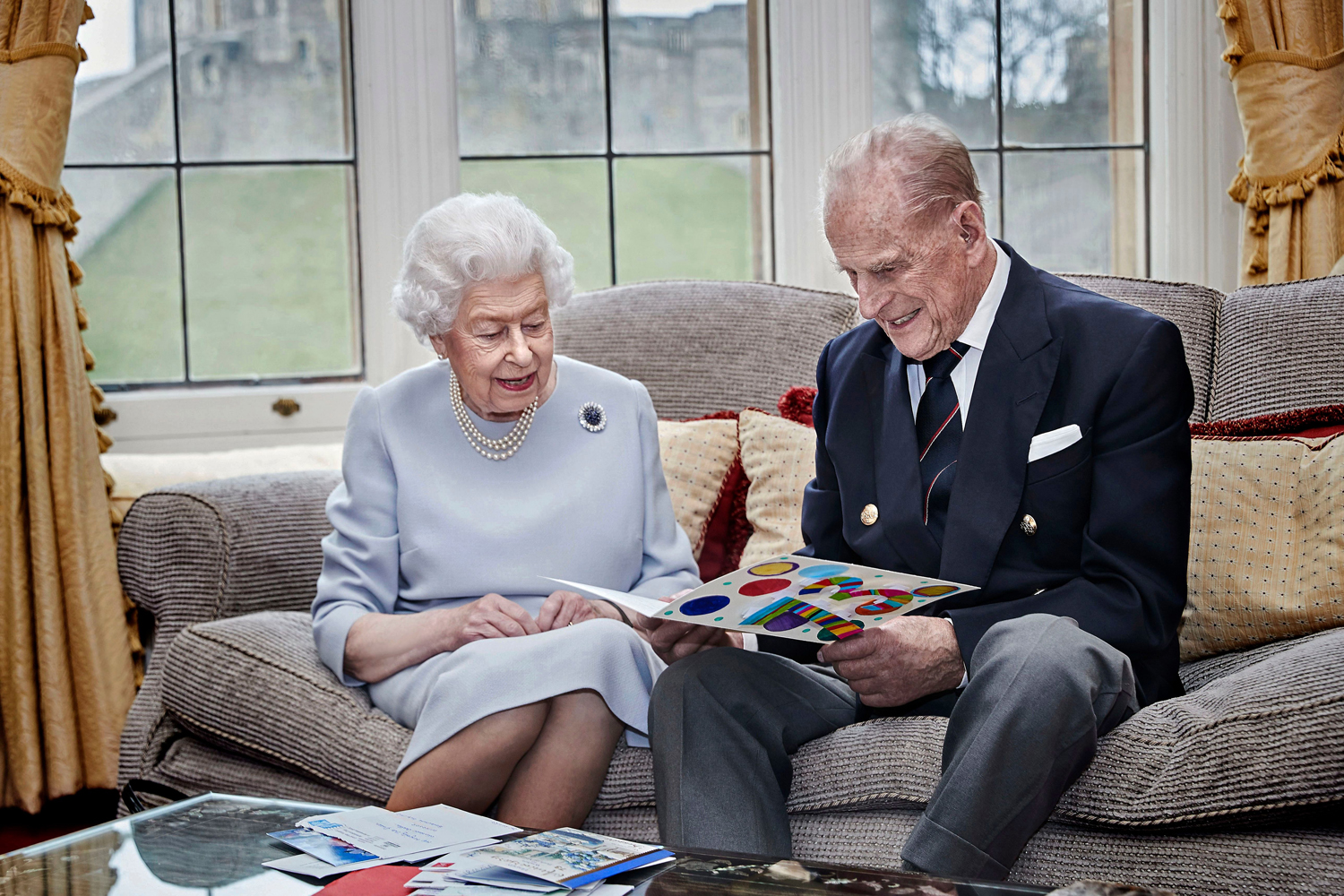 Queen Elizabeth and Prince Philip Duke Of Edinburgh 73rd Wedding Anniversary Official Portrait, Windsor, UK - 17 Nov 2020
