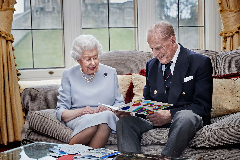 Queen Elizabeth and Prince Philip Duke Of Edinburgh 73rd Wedding Anniversary Official Portrait, Windsor, UK - 17 Nov 2020